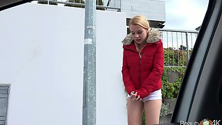 This Blonde Babe Will Do Anything For A Few Bucks And She Is An Eager Whore