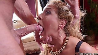 Butler Bangs MILF And Her Stepdaughter