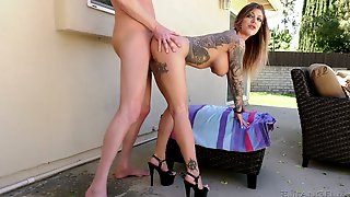 Compete Whore Karma Rx Takes Huge Phallus In Her Stretched Anal Hole