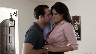Having Exposed Boobies India Summer Gives Quite A Solid Blowjob