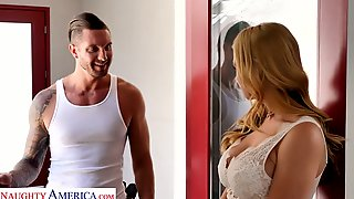 Perverted Giant Breasted Blonde Sexpot Sarah Vandella Is Poked Mish And Doggy