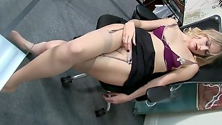 Vika Blonde Secretary, Knocked Out, Groped And Fondled