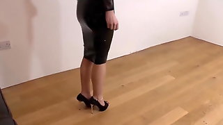 Black Latex Dress Heels And Egs
