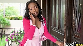 Ebony Chick Daya Knight Is Playing With Her Pussy Before Crazy Sex With Black Boyfriend