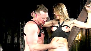 Blindfolded Tranny Sub Ass Fuck Pounded By Master