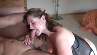 Check My MILF Busty Wife In Stocking Titty Fucked