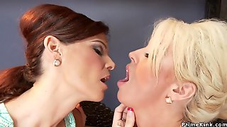 Mature Lesbians Shagging Machines Together