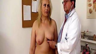 Busty Blonde Gyno MILF: Medical Hospital Fetish In Gynecologist Office
