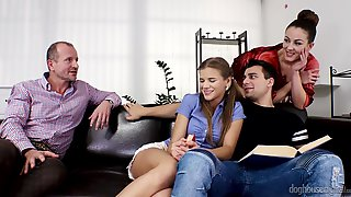 FirstTimers - George Uhl And Valentina Ross Group Sex