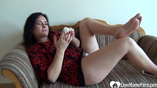 Mother Id Like To Fuck Babe Pleasures Herself While Being Recorded
