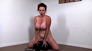 Redhead Rides Her Sybian
