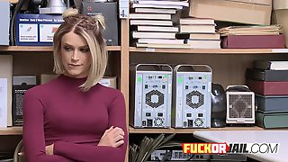 Horny Security Officer Puts A Spycam On His Office To Record