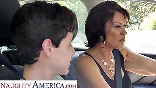 Naughty America Mrs. Fuller (Vanessa Videl) Teaches Juan How