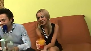 Fucking Drunk Russian Bitch With A Friend