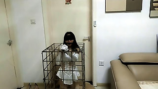 Chinese Bride Restrain Bondage In Cell