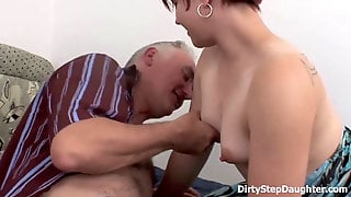 DirtyStepDaughter - Let Me Relieve Your Spunk-pump Stepfather