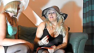 FACE Peeing IN Handsome Pantyhose AND HIGH HEELS