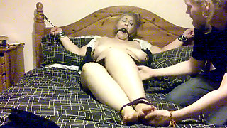 Elle Moon Assistant Kittle Torment Tied To Bed