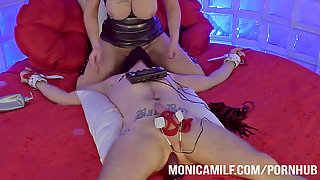 Monicamilf Have A Messy Female Dominance Mind - Pegging And Electro Orgy In Norway