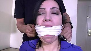 Cassandra Cain Ball-gagged In Her Girdle