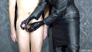 Hand-job With Spandex Glove