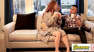 Abbey Rain American Girl Friend Hookup With Muscle Malaysian Guy MMWF-002