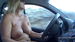 BareChrissy - Nude Cruise With My Car