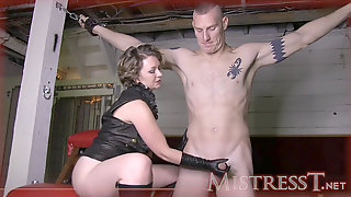 Leather Glove Handjob