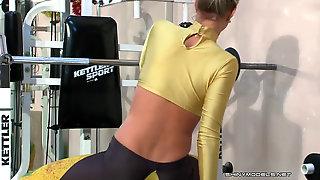 Katya Workout Spandex Glistening