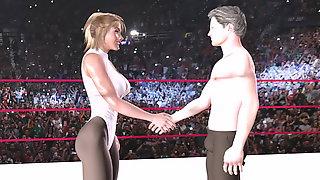 Ballbusting Mixed Wrestling