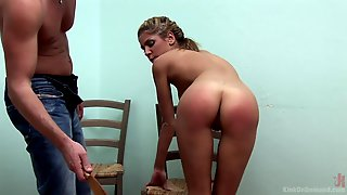 Sweet Blonde Wants To Try Spanking With Her Lover For The Best Cum