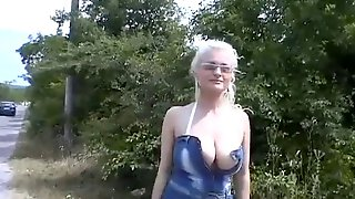 Cassandra Slovenian Blonde Picked Up Off Road Solo Dildo Masturbation Big Tits Busty Edited