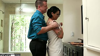 Hot Blooded Wife Dana Vespoli Is Cheating On Her Husband With Bald Headed Neighbor