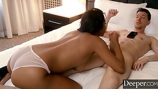 Deeper. Husband On The Phone With His Wife While Cheating Wi