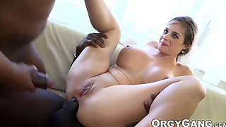 Cathy Heaven Double Analled  In Hardcore Interracial Orgy