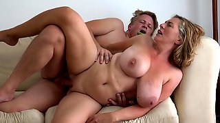 Mature Camilla C With Natural Tits Gets A Big Cock In Her Tender Pussy