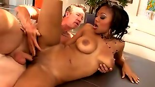 An Ebony Goddess With Natural Boobs Rides A Penis In POV PORN