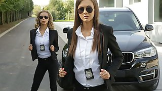 Tina Kay And Veronica Leal Are Dirty Corrupted Cops Who Will Fuck To Get Promoted! There Is Only One Way To Help Them Solve More Cases: Ian Scott Needs To Fuck Their Delicious Asses
