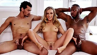 Karla Kush Is Wearing Glasses, So She Must Be Smart, Right? Eh, We Will Just Have To Go With It. She Is Tutoring These Two Big Black Guys Who Do Not Seem To Be Interested In Math At All