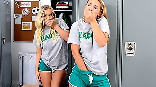 Sloan Cant Stop Thinking About Her Hot Blonde New Stepsister, Bailey