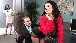 Excited Glamorous Secretary Aaliyah Hadid Fucks With Her Boss