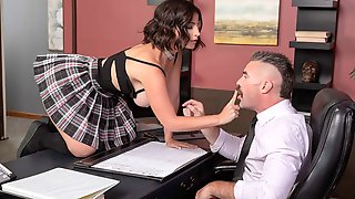 Astonishing Big-boobed MILF LaSirena69 Is Having Sex In The Office