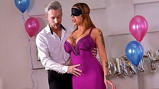 Two Big Black Dicks For A Lustful Big-boobed MILF Heidi Van Horny