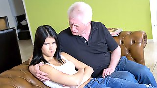 Asian Hottie Lady Dee Demonstrates Her Skills For An Old Man