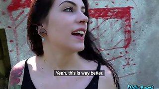 Tattooed Brunette Teen Anna De Ville Enjoys Sex For Money