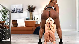 An Innocent White Gf Kenzie Reeves And A Hot Ebony BBW Victoria Cakes