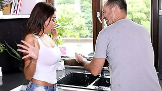 Sex-addicted French Model With Big Tits Anissa Kate Enjoys His Boner