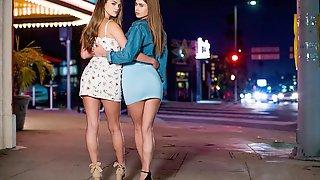 Two Slender Teens Jill Kassidy And Athena Faris Both Enjoy His Big Dick