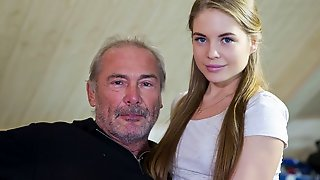 Great-looking Busty Doll Alessandra Jane Fucked Hard By An Old Man