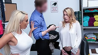 Two Blondes Kylie Kingston And Natalie Knight Are Fucking In The Office